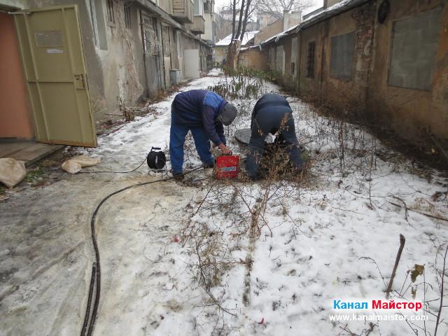 Отпушване на канали в София от екипа на Канал Майстор