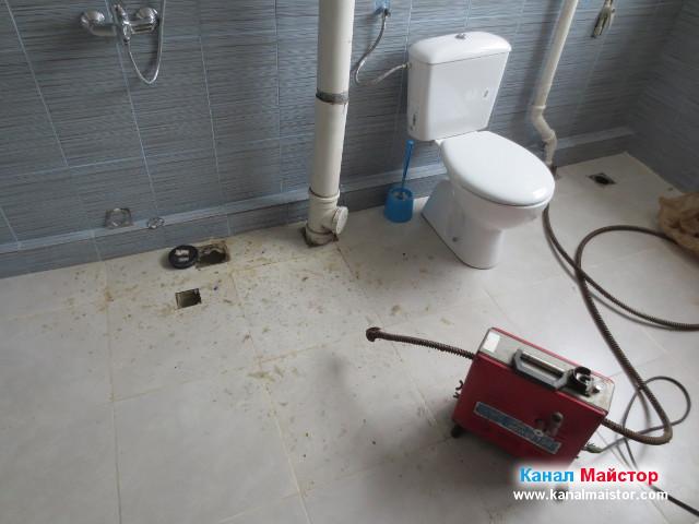 Подготовка за отпушване на банята