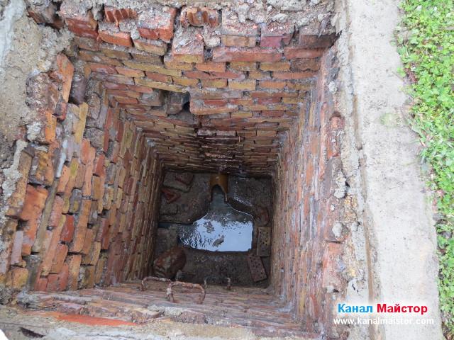 Дъното на канализационната шахта