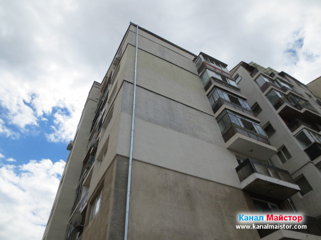 Блок с изглед към покрива