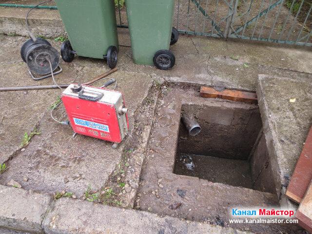 Подготовка за отпушване на канализацията