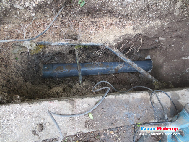 Счупената канализационна тръба е вече подменена