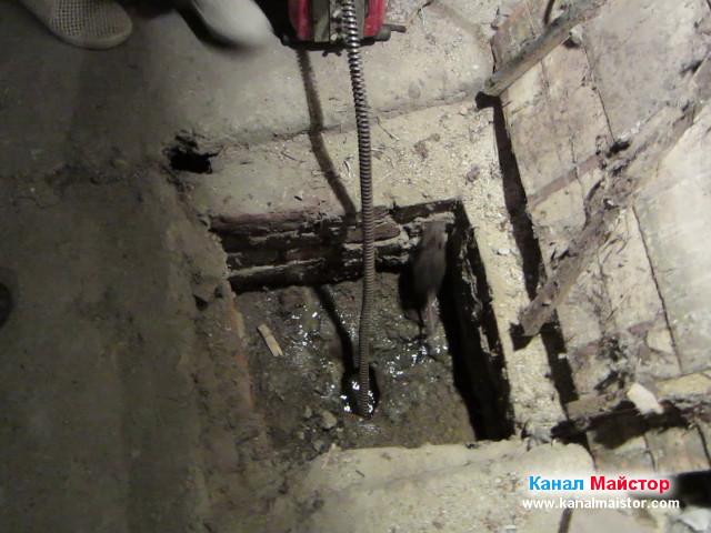 Плъхчето скача и излиза от шахтата :)