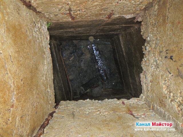 Тръбата в шахтата е почистена