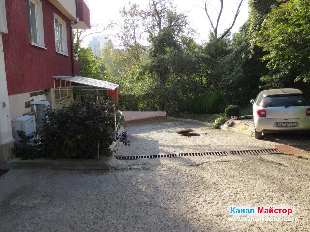 Започваме ремонт на канализацията за дъждовна вода, на блока намиращ се вляво на снимката