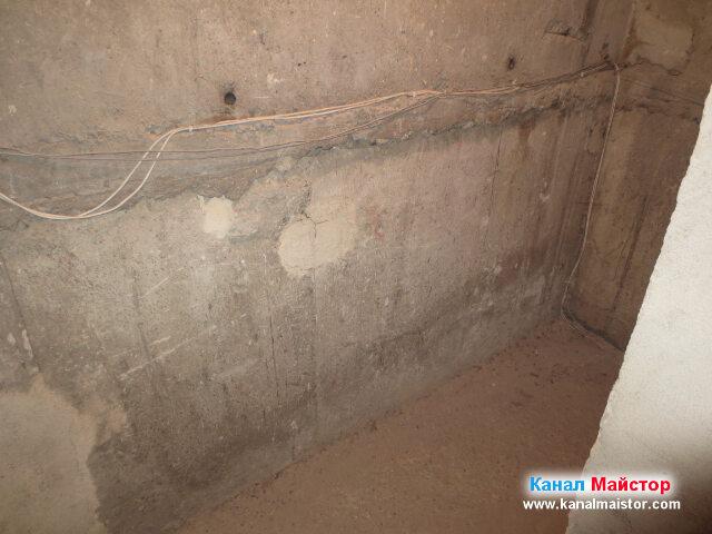 Стените на мазето