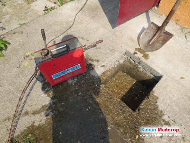Машината ни за отпушване на канали е почти готова за работа