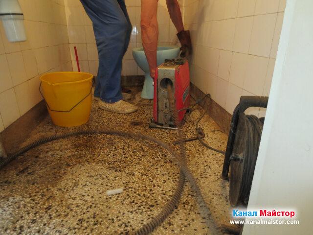 Машинно отпушване на канализацията