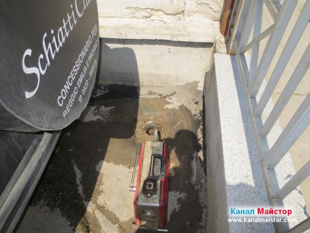 Дворната канализация е отпушена