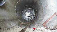 Отпушване на запушен канал на хотел през външна шахта - София, кв Витоша