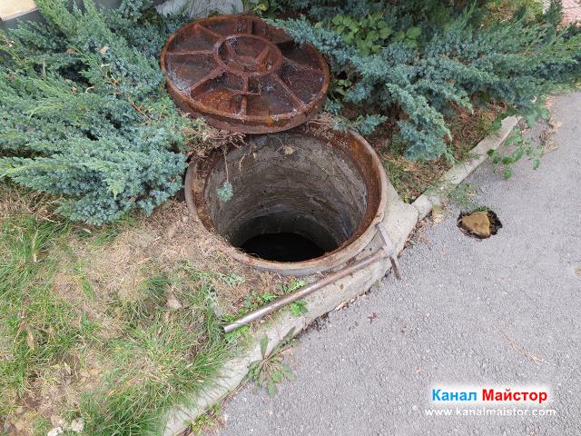 външната шахта на блока
