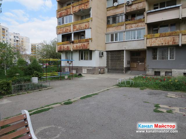 Блок в столичният квартал Надежда 2, от който ни извикаха за отпушване на канал