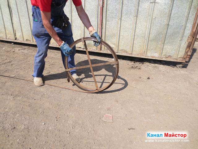 Прибираме шината за отпушване на канализации
