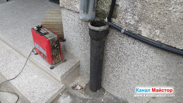 подготвяме машината ни за отпушване на тръби и канали, за отпушване на водосточната тръба