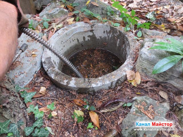 Отпушване на шахтата пълна с вода