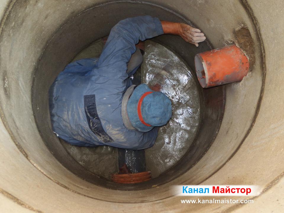 Ремонтиране на шахтата, подмазване дъното на шахтата