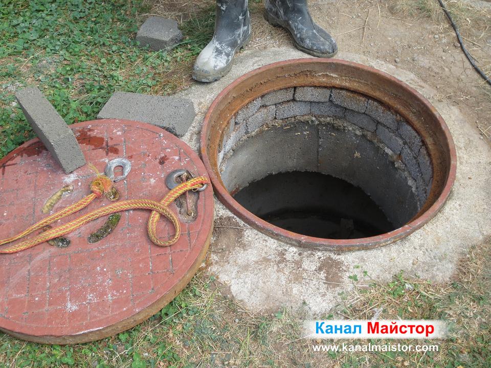 Махнат капак на първата от двете шахти за ремонт