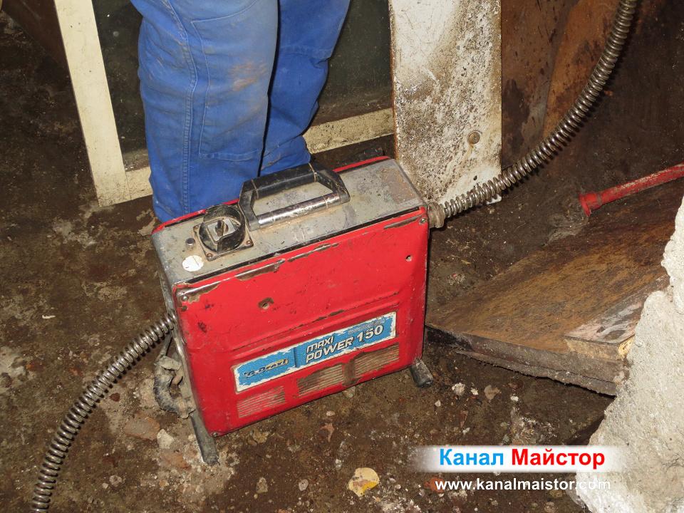 Машината на Канал Майстор за отпушване на тръби в София и областта
