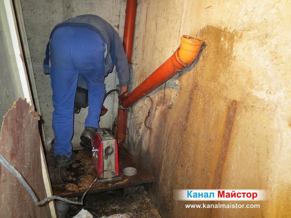 Приключихме с отпушването на канализационните тръби в София, жк Зона Б-5