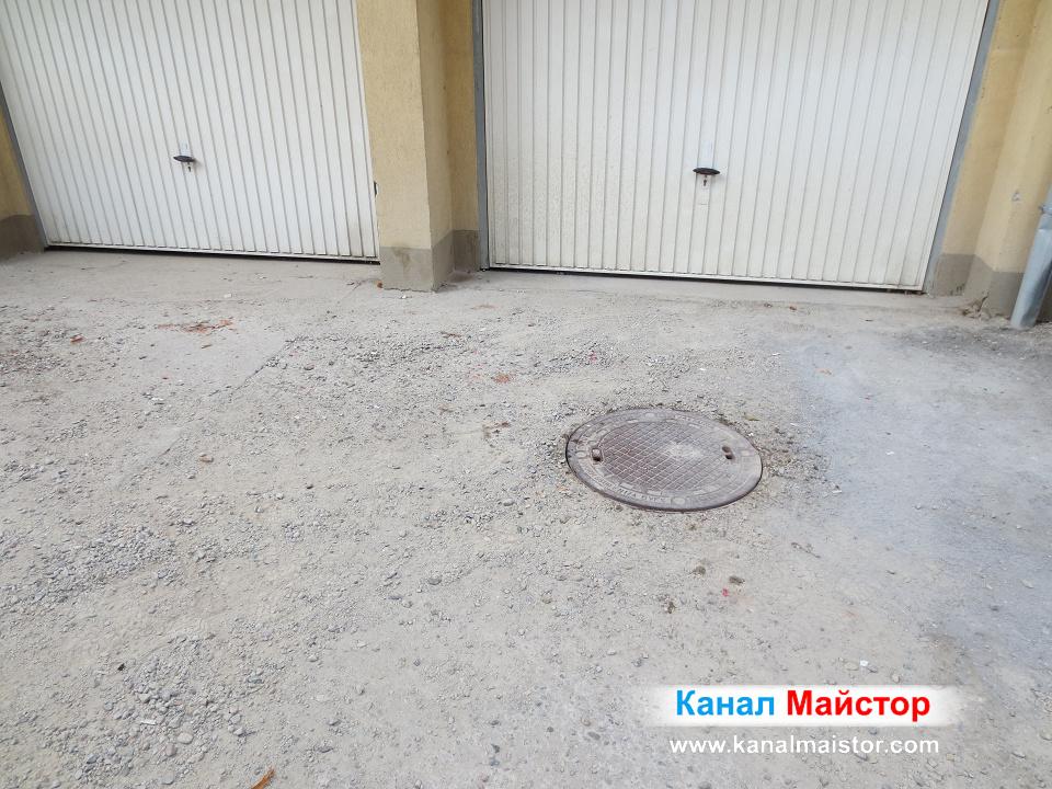 Извършихме успешно отпушване на канали на сграда в София, през тази канализационна шахта